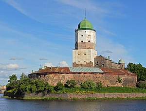Vyborg Castle - View of the Viborg Castle.