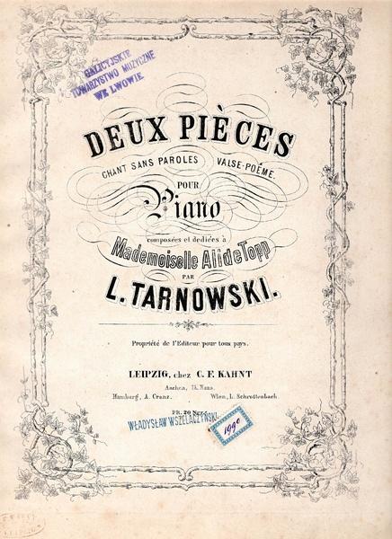 File:W. Tarnowski - Deux Pieces - Chant sans paroles, Valse poeme.pdf