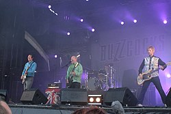 Left to right: Steve Diggle, Pete Shelley, John Maher, Chris Remmington, @ Hellfest 2013