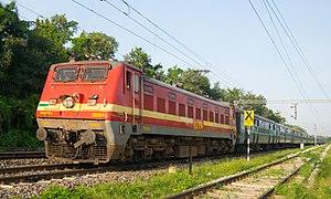 Indian locomotive class WAP-4 - Konark Express with a WAP4 at Lingampally Railway Station