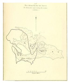 Dahlak Archipelago - Map of the development of the Dahlak Islands (1838).