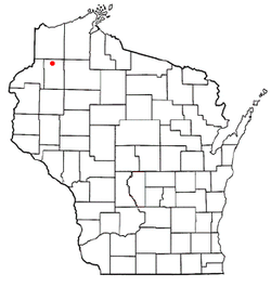 Location of Minong, Wisconsin