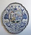 WLANL - MicheleLovesArt - Harlinger Aardewerkmuseum - Plaat met bijbelse voorstelling (Abraham begroet de drie engelen), Makkum (Tichelaar), 19de eeuw.jpg