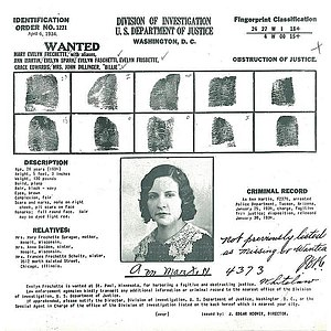 Evelyn Frechette - FBI Wanted Poster
