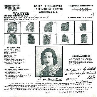 Evelyn Frechette - FBI Wanted Poster