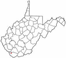 Location of Iaeger, West Virginia