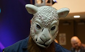 Erick Rowan - Rowan wearing his sheep mask as part of The Wyatt Family