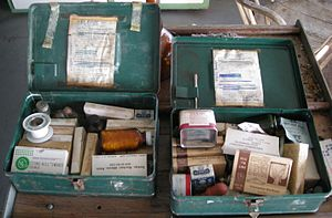 WWII first aid kit in a government firelookout...