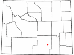 Location of Elk Mountain, Wyoming