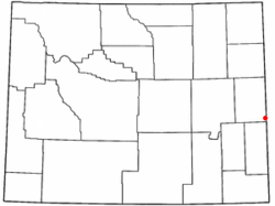 Location of Van Tassell, Wyoming