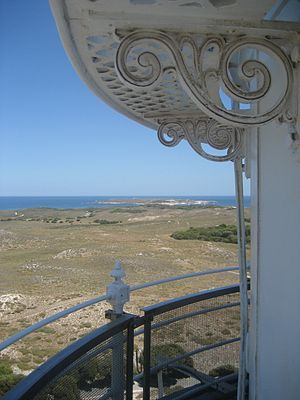 Wadjemup Lighthouse - Looking West towards Narrow Neck and Cape Vlamingh from the lighthouse viewing platform