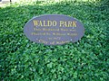 Waldo Park sign, Salem, Oregon.JPG