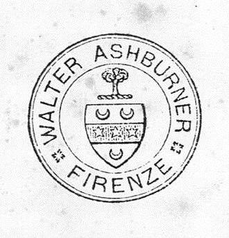 British Institute of Florence - Image: Walter Ashburner Timbro