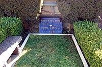 Walter Matthau grave at Westwood Village Memorial Park Cemetery in Brentwood, California.JPG