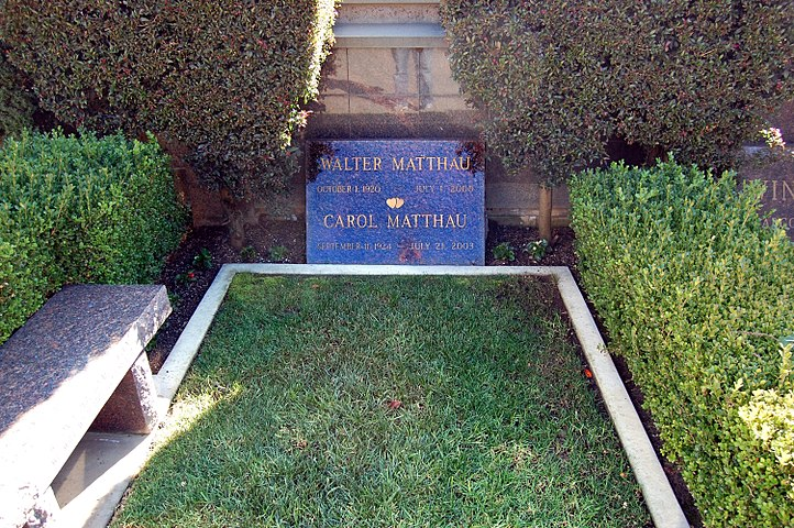 Walter Matthau grave at Westwood Village Memorial Park Cemetery in Brentwood, California.JPG