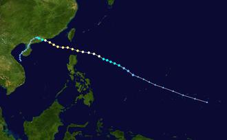 Typhoon Wanda (1962) - Image: Wanda 1962 track