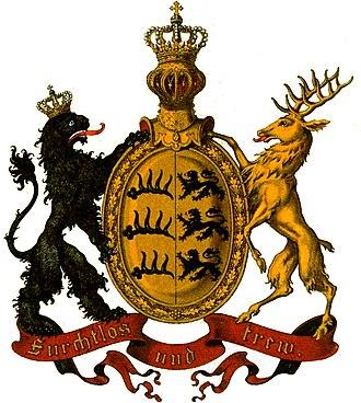 Coat of arms of Württemberg - Image: Wappen Deutsches Reich Königreich Württemberg
