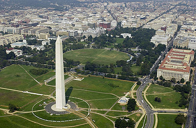 Washington, D.C., the third most populous city in the Northeast and the capital of the United States WashMonument WhiteHouse.jpg