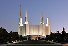 Washington D.C. Temple At Dusk.jpg