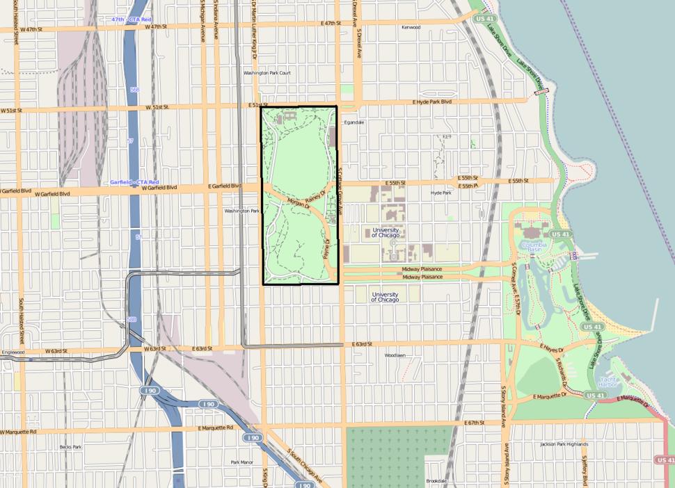Washington Park OpenStreetMap