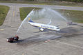 Water cannon salute Ryanair RJK 15042011.jpg