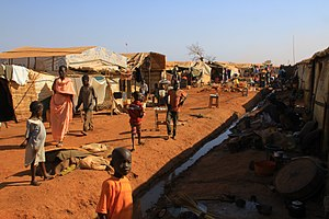2016–17 Wau clashes - The UN protection of civilians (PoC) site in Wau town in December 2016.