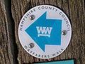 Wayfarers Walk direction marker, Preshaw Wood - geograph.org.uk - 391509.jpg