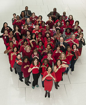 National Wear Red Day - Food and Drug Administration employees celebrating Wear Red Day