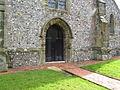 Weather worn arch surrounding west door at St Martin - geograph.org.uk - 1766385.jpg