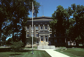 Webster County, Nebraska - Image: Webster County Courthouse, Red Cloud