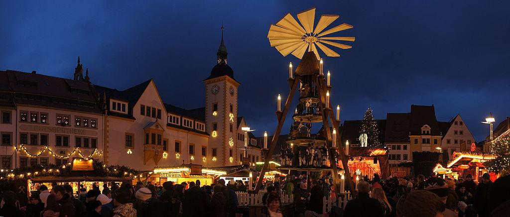 Freiberger Christmarkt (Weihnachtsmarkt in Freiberg; UNESCO-Welterbe Montanregion Erzgebirge)