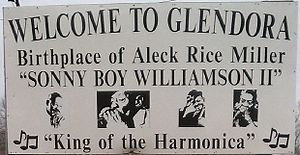 Glendora, Mississippi - Image: Welcome To Glendora Sign