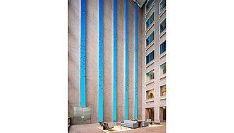 Wells Fargo Center (Denver) - Image: Wells Fargo digital art installation by ESI Design (photo credit Caleb Tkach)