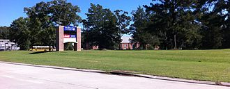 St. Francisville, Louisiana - The entrance to the West Feliciana Parish Public Schools complex in Bains
