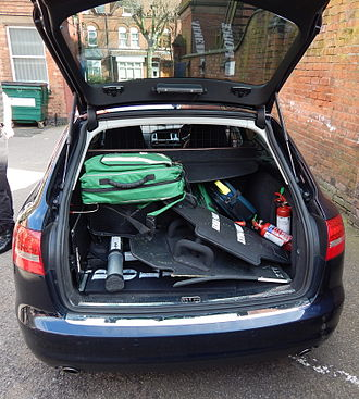 Armed response vehicle - Equipment in the boot of an ARV from West Midlands Police