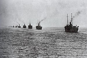 Wrangel's fleet - The White Army being evacuated from the Crimea