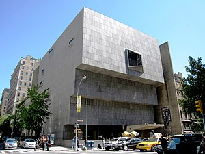 2016 in art - The Whitney Museum of American Art's former (1966–2014) home on Madison Avenue; the Marcel Breuer-designed building was leased by the Metropolitan Museum of Art beginning in 2016. It is now known as the Met Breuer.