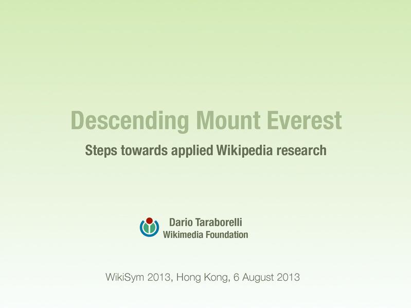 File:Wikipedia research keynote WikiSym 2013.pdf