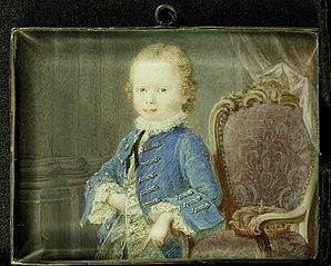 Willem V (1748-1806), prins van Oranje-Nassau, als kind