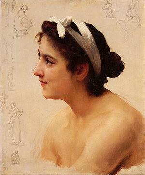 """Étude de Bouguereau: """"Offrande à l'Amour"""""""