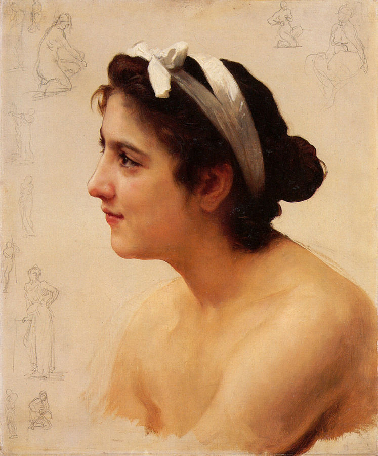 Study Of A Woman For Offering To Love