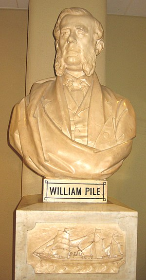 William Pile (shipbuilder) - Image: William Pile Bust