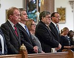 William Barr, Rod Rosenstein, and Christopher Wray attended the Blue Mass.jpg