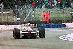 Williams FW15C at Copse during practice for the 1993 British Grand Prix (33686812085).jpg