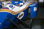 Williams FW16 sidepod intake 2017 Williams Conference Centre.jpg