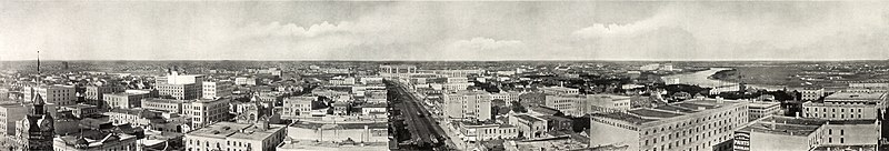 Panorama of Winnipeg, Manitoba, Canada, photographed from top of Union Bank Building in 1907