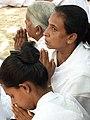 Women Worshippers at The Mahavihara - Anuradhapura - Sri Lanka - 01 (14171365563).jpg