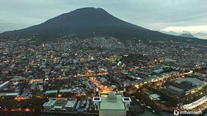 Ternate City - City of Ternate with Mount Gamalama at the background