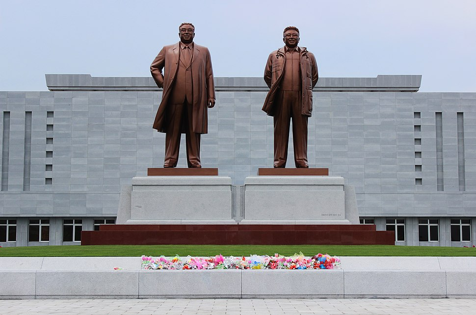 Wonsan. Doppelmonument Kim Il-sung - Kim Jong-il