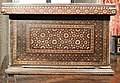 Wooden box inlaid with ivory in floral and zellige-like geometrical motifs Italy 15th century.jpg